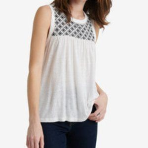 Lucky Brand Women's Embroidered Sleeveless Top